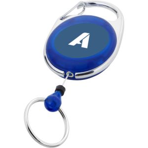 Roller Clip Key Chain in Translucent Blue
