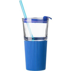 Promotional 500ml Glasses with Straws for Event Merchandise
