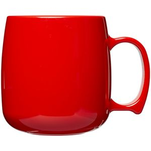 Classic Plastic Mugs in Red