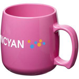 Classic Plastic Mugs in Pink
