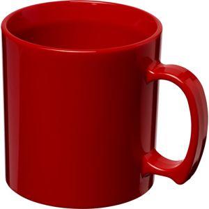 Standard Plastic Mugs in Red