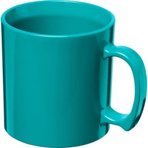 Standard Plastic Mugs in Aqua