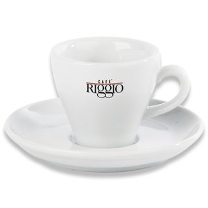 Torino Cup and Saucer in White