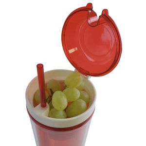 Branded Drinks Bottles with Snack Compartment are practical merchandise ideas