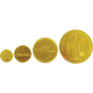 Our embossed chocolate coins are available in a range of sizes for you to choose from.