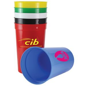Colourful Plastic Cups are ideal for festivals
