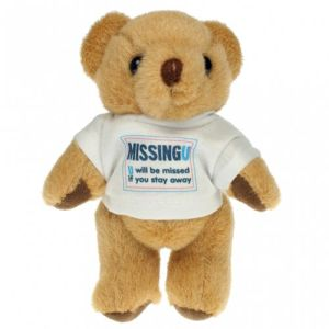Promotional 5 Inch Honey Jointed Bear with company logos