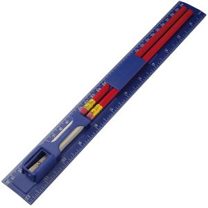 Branded 5 Piece Ruler Set for Workplace Stationery