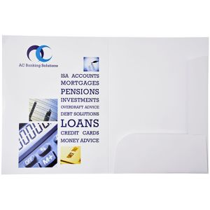 A4 Presentation Document Wallets inside cover printed at an additional cost
