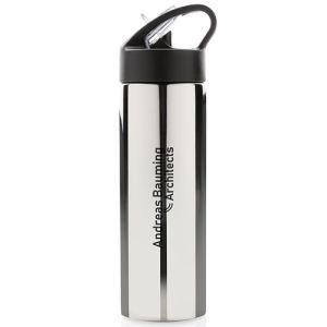 Printed Straw Metal Sports Bottles