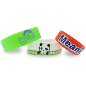 Custom Printed Silicone Wristbands for Promotional Giveaways