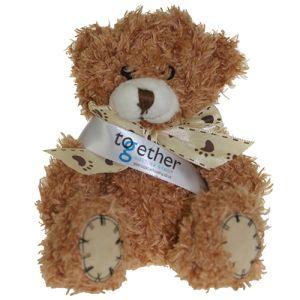 12cm Paw Teddy Bears in Cinnamon