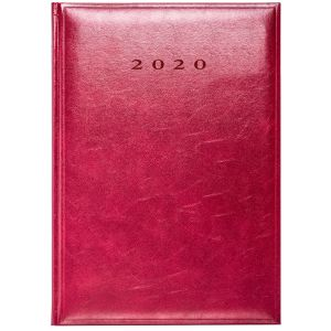 Embossed diaries for workplace stationery in Red