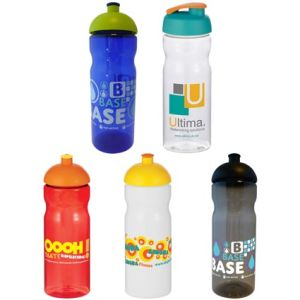 Custom branded sports bottles printed with designs colours
