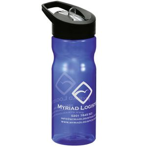 Branded sports bottles with company logos
