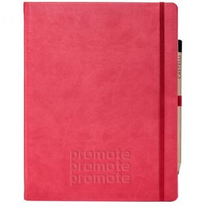 Ivory Tucson Large Notebooks with Pencil in Red