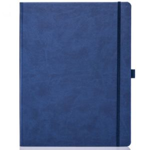 Ivory Tucson Large Notebooks with Pencil in Blue