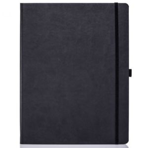 Ivory Tucson Large Notebooks with Pencil in Black