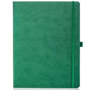 Ivory Tucson Large Notebooks with Pencil in Green