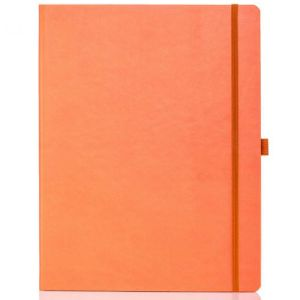 Ivory Tucson Large Notebooks with Pencil in Orange