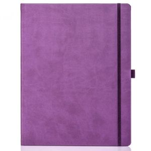 Ivory Tucson Large Notebooks with Pencil in Purple