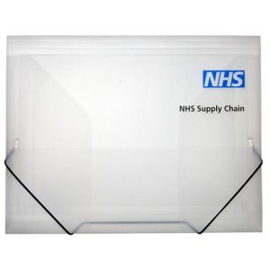 A4 Elasticated Folders in Clear
