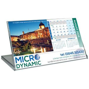 Personalised Landscape Case Calendars for office desks