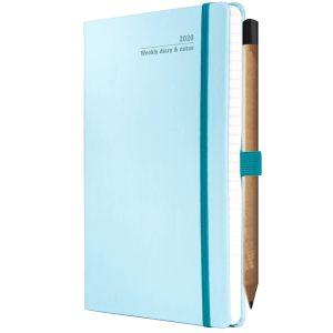 Branded Ivory Tucson Medium Weekly Diaries in Blue Caracao