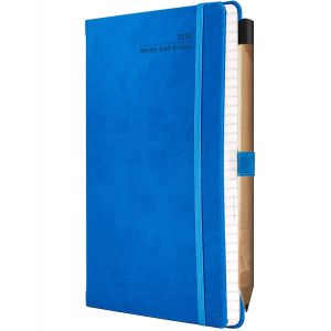 Ivory Tucson Medium Weekly Diaries with Pencil in French Blue