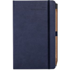 Ivory Tucson Medium Weekly Diaries with Pencil in Navy