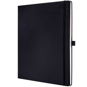 Branded journal for university marketing in Black
