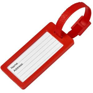 Plastic Window Luggage Tags in Red