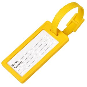 Plastic Window Luggage Tags in Yellow