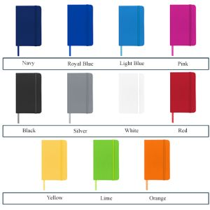 Branded notebooks for offices colours