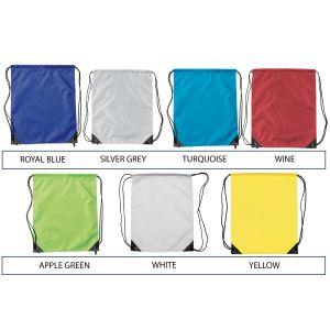 Printed drawstring bags for commuting colours