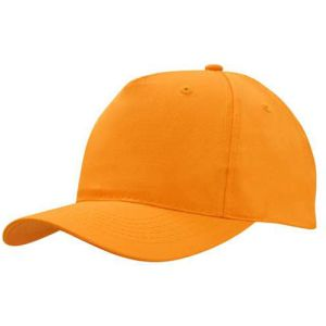 Polyester Twill Budget Caps in Orange