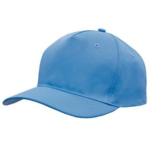 Polyester Twill Budget Caps in Sky Blue