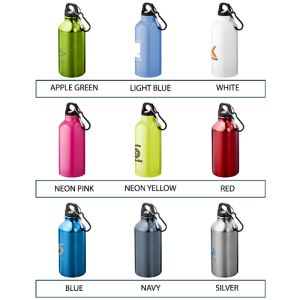Custom printed metal bottles for commuting colours