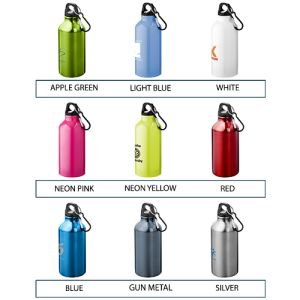 Custom printed metal bottles for commuting colours
