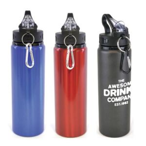 Promotional sports bottles engraved with designs