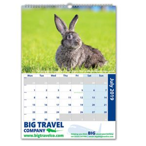 Custom printed A3 Traditional Wall Calendars for offices