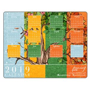 Branded Calendar Mousemats are a useful gift