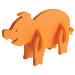 Foam Animal Puzzles in Orange