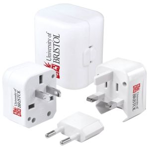 Personalised Travel Adapters for Company Marketing