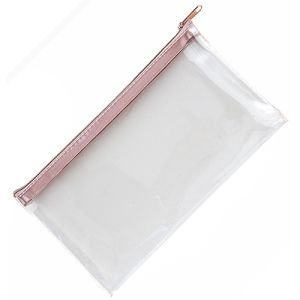 Clear Pencil Cases in Rose Gold