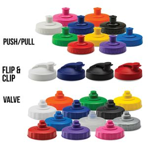Promotional water bottles for business gifts lids