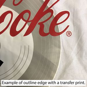 Example of Transfer Print Outline Edge on Fabric
