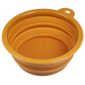 Collapsible Dog Bowls in Orange