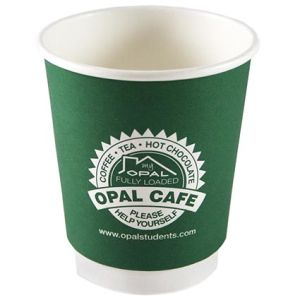 Promotional 8oz Double Wall Paper Cup printed with logo