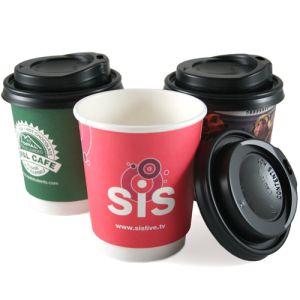 Corporate branded paper cups for company artwork